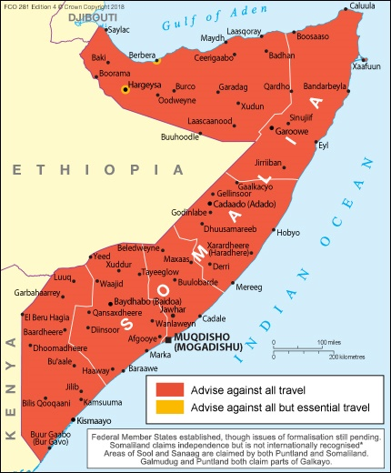 UK Government- Somalia Travel Advice.